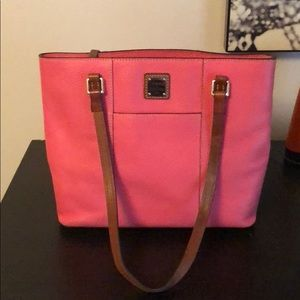 Dooney and Bourke pink leather back